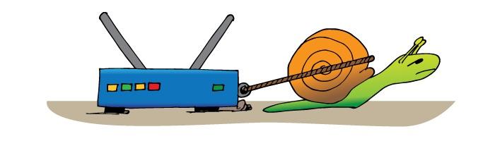 Router_Modem_Speeds_Snail_Lineart